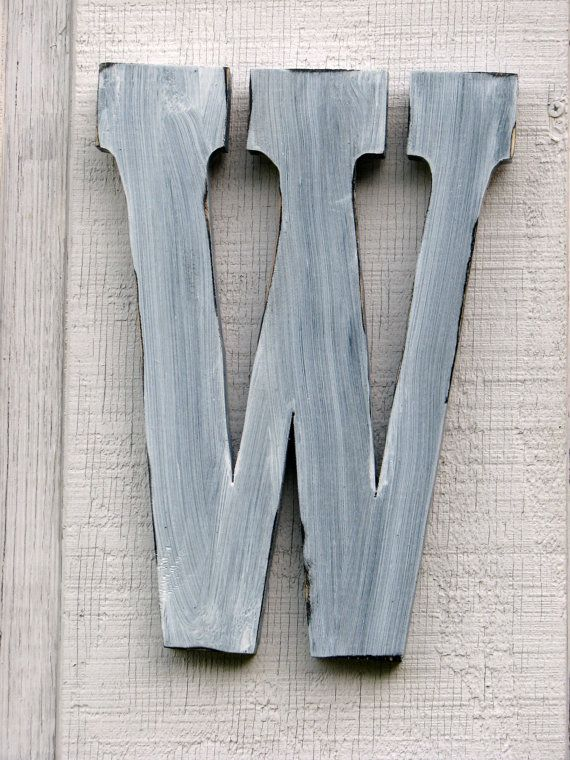 Painted Distressed Wood Letters