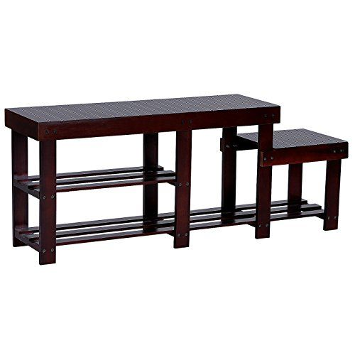 SONGMICS High-Low-Seat 2-Tier Entryway Shoe Bench w' Boot...