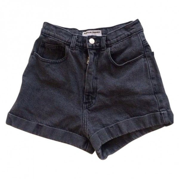 American Apparel high-waisted shorts AMERICAN APPAREL (3610 RSD) ❤ liked on Polyvore
