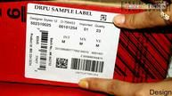 Simple to print barcode label using laser printer