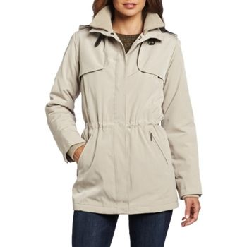Nautica Women's Stone Insulated and Hooded Rain Coat. SHOP IT NOW