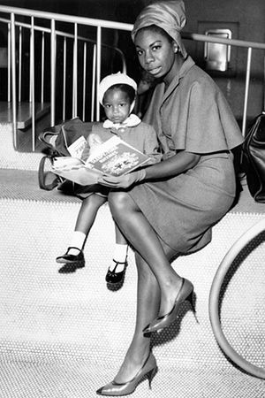 Nina Simone and her daughter Lisa in 1965.