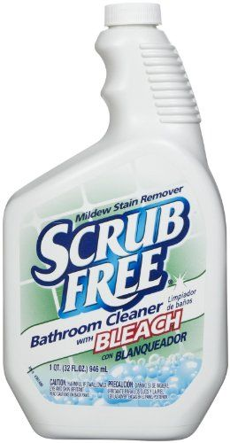 Scrub Free Mildew Remover With Bleach 32 Oz Scrub Free 35264 With Green Lid Best Shower And