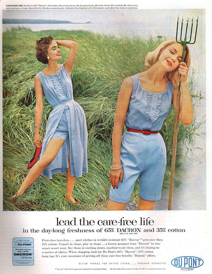54 best 1950's Fashion images on Pinterest   Fashion ... Dacron 1954