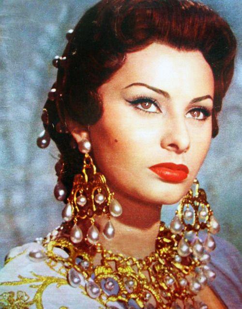 "Sophia Loren in ""Attila"" 1954"