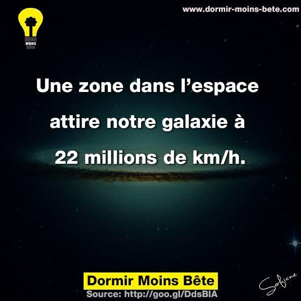 Une zone dans l'espace attire notre galaxie à 22 millions de km/h.