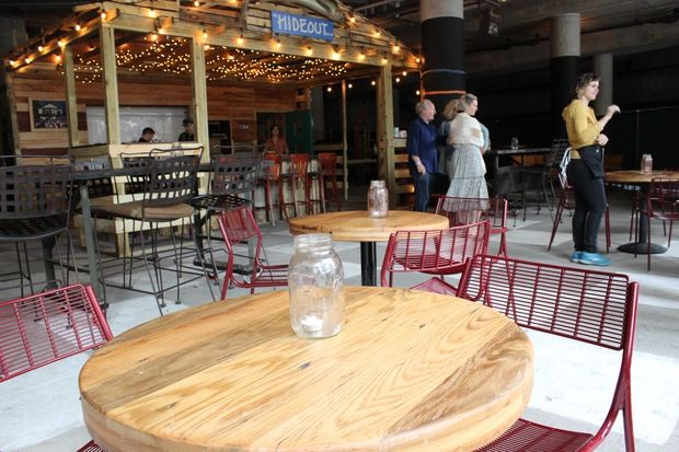 The Hideout Opens Riverwalk Bar with '3x3x3' Happy Hour - Downtown, shown inside of The Hideout - DNAinfo.com Chicago