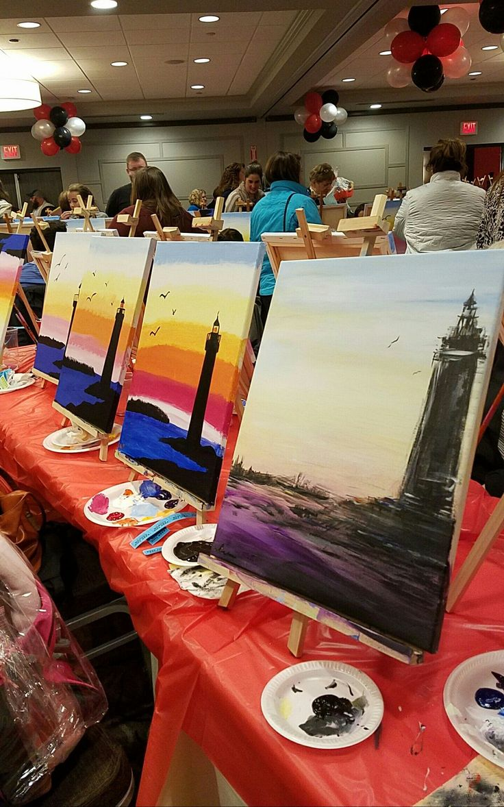 Paint night. Someone reads Stephen King.