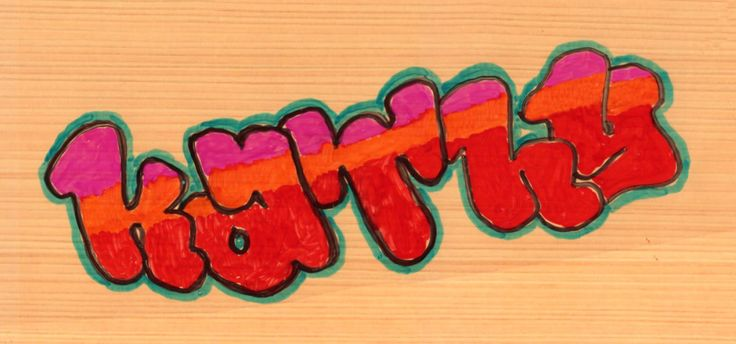 Art Projects for Kids: Graffiti Lettering Project