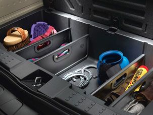 Cargo Dividers for the 2015 Honda Pilot make it easy to stay organized.