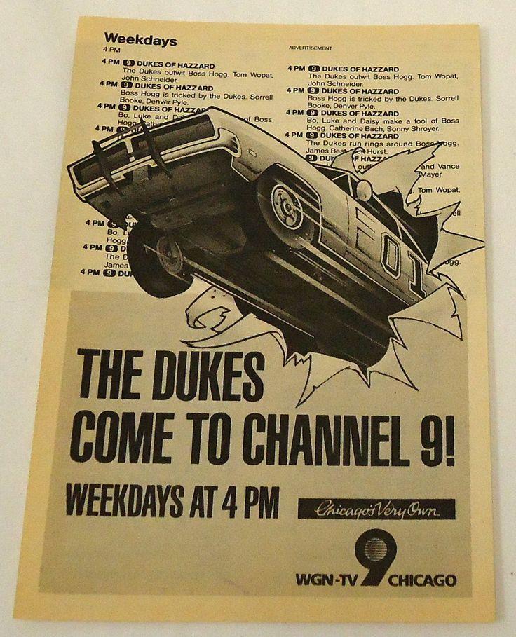 1985 WGN TV Ad Page Dukes of Hazzard | eBay