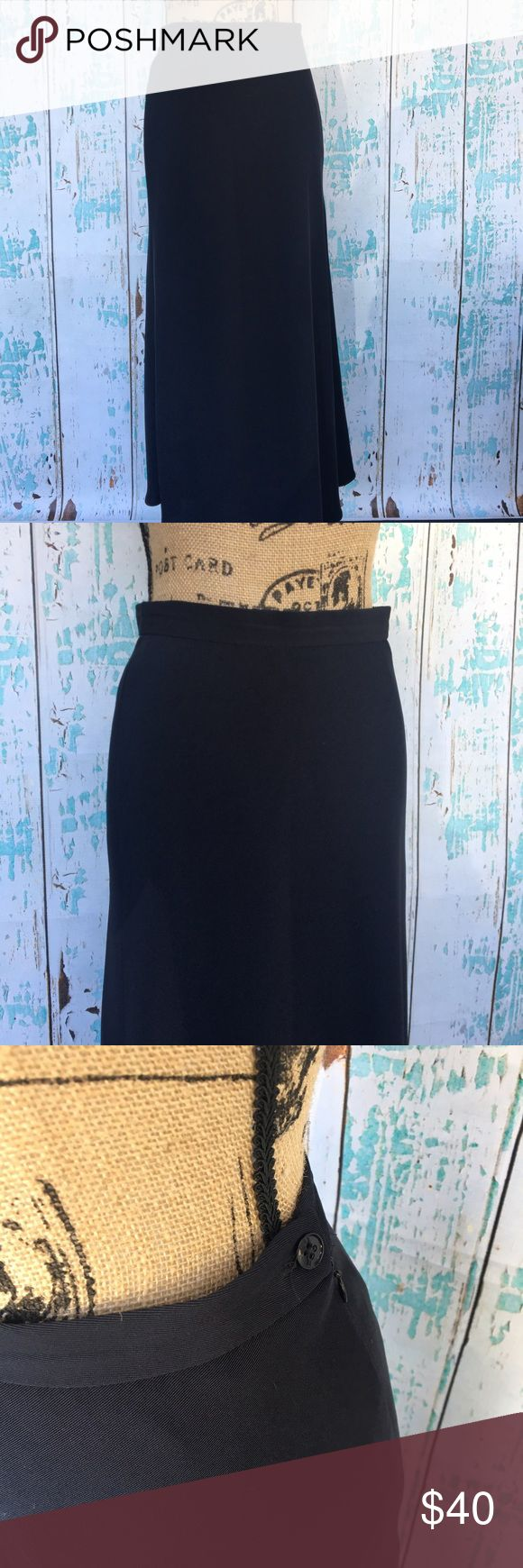 Lauren Ralph Lauren navy blue maxi/midi skirt Lauren Ralph Lauren navy blue maxi/midi A line skirt size 6. This can be paired with a nice work shirt or even a crop too and cute wedges for a trendy look. Lauren Ralph Lauren Skirts A-Line or Full