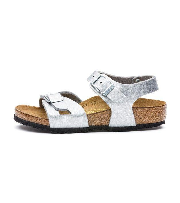 Birkenstock Rio Silver, Kids Footwear, www.oishi-m.com