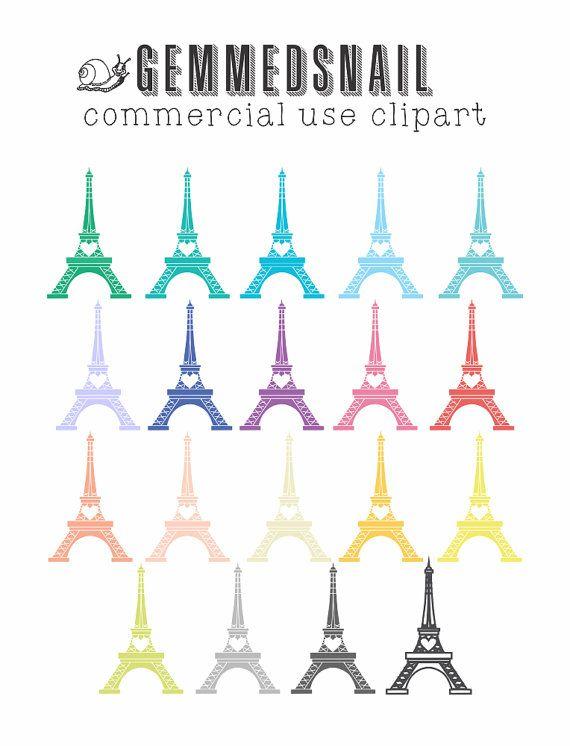 Eiffel Tower clip art, 19 Eiffel Tower digital images, french clipart, paris digital clipart