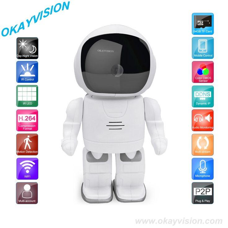 63.00$  Buy now - http://ali9kq.worldwells.pw/go.php?t=32659576935 - HD 960P Wireless Audio astronaut camera surveillance camera Wifi Micro SD camara Wireless p2p IP camara PTZ Wifi Security Cam