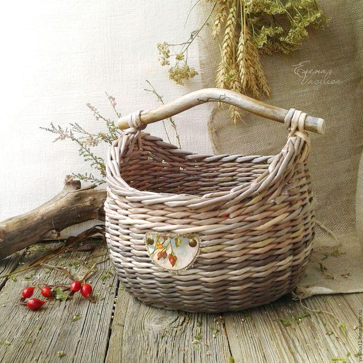 Купить Короб-кузовок плетеный 'Шиповник' - корзиночка плетеная, короб плетеный, кузовок, старинная, деревенская