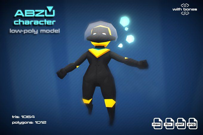 ABZU character by stallfish's art store on @creativemarket