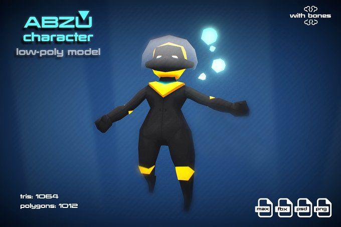 ABZU character by stallfish's art store on @creativemarket