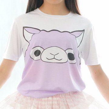 Upgrade! S/M/L [Tokyo Dollie Design] Pastel Purple Alpaca T-shirt Top SP140931 - SpreePicky  - 3