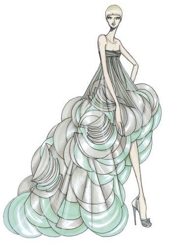 Desenho de Moda da grife Versace (#Lindo!)