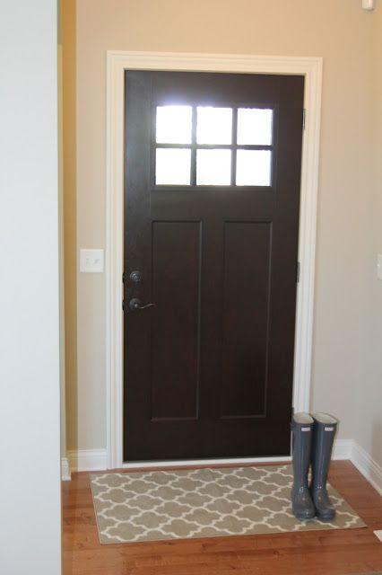 Craftsman fiberglass front door our styled suburban life for Craftsman entry doors fiberglass