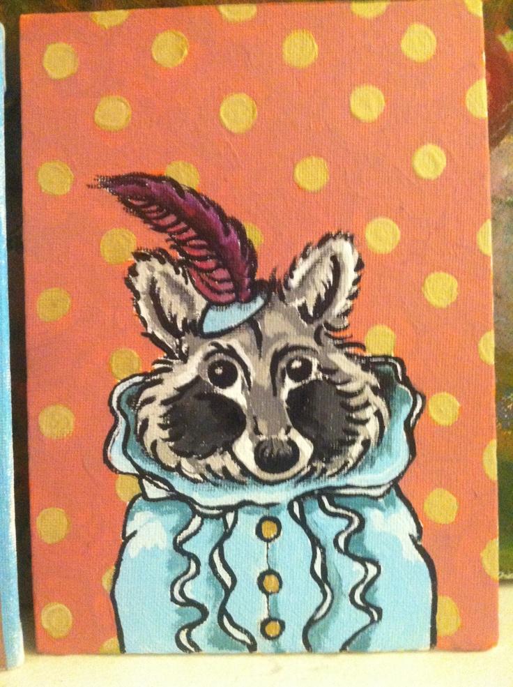 Robin raccoon!
