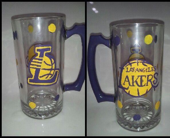 Hand Painted Glass Beer Mugs