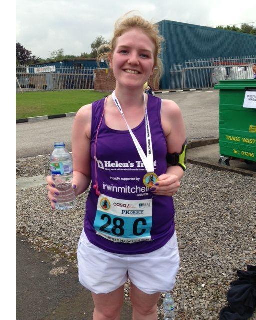 MK's Amy after finishing her 9 miles! #relayteam #chesterfieldandderbyshiremarathon #teamMK