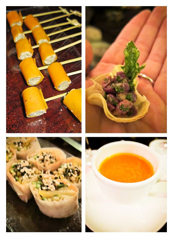 Vegan Canapes at the Mount Nelson Cape Town