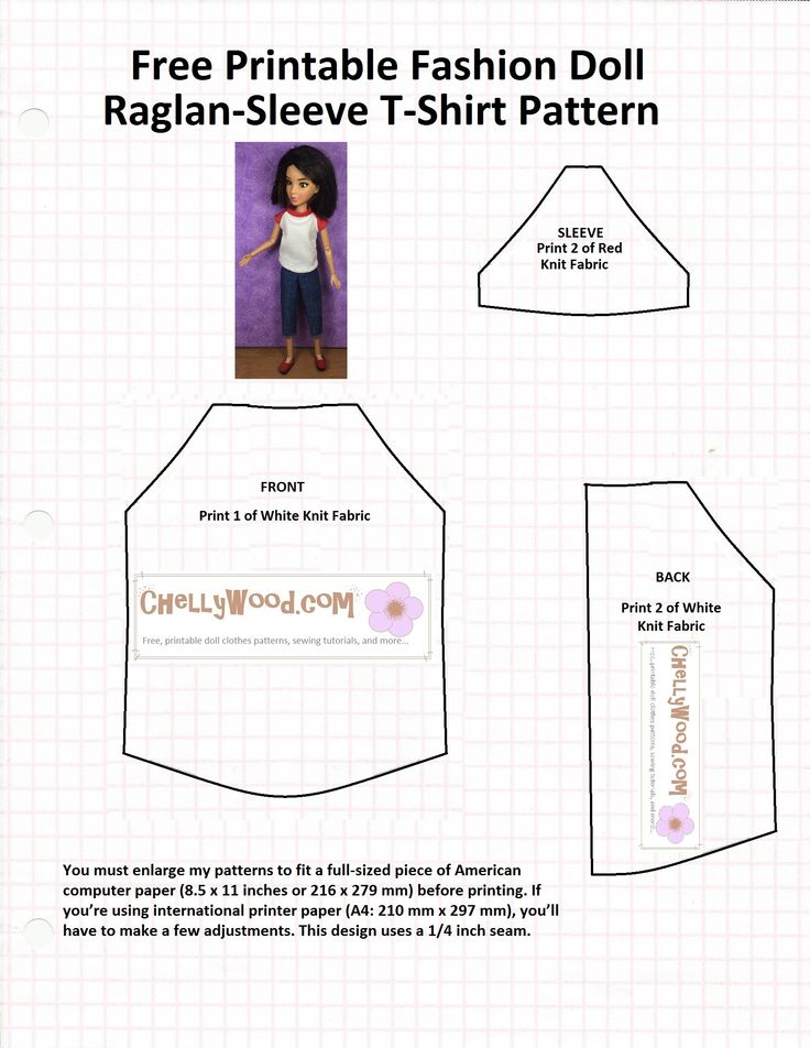 Magnífico Free Printable Barbie Clothes Sewing Patterns Ornamento ...