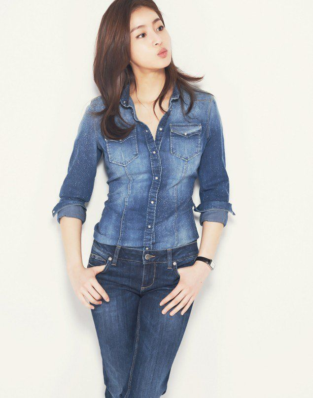 Kang So Ra is a goddess in denim as new model for 'LIU.JO' | http://www.allkpop.com/article/2016/03/kang-so-ra-is-a-goddess-in-denim-as-new-model-for-liujo