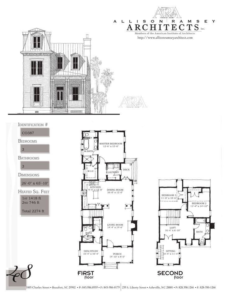 Second empire tower allison ramsey floorplans for Second empire house plans