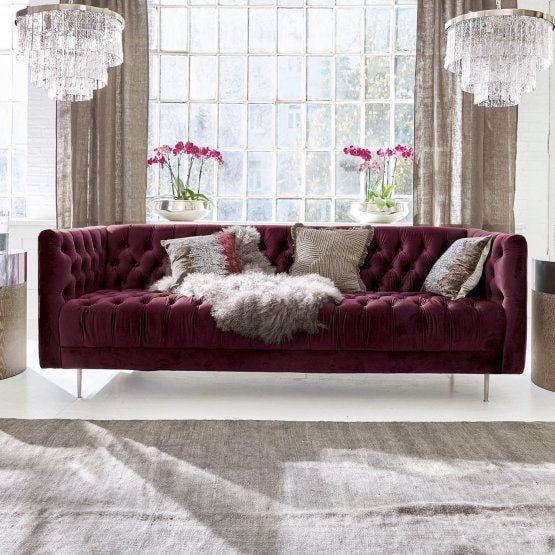 Canape Whaley Bordeaux Canape Loberon In 2020 Home Decor