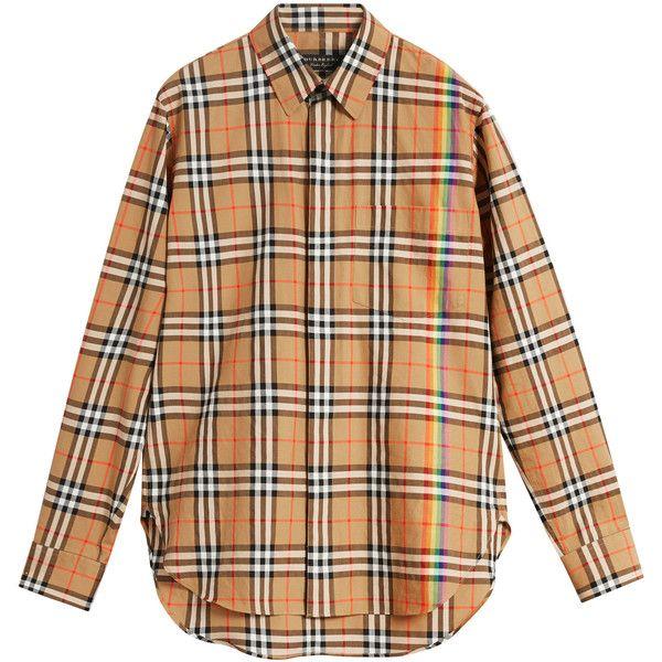 5a805a448c93 Checked Cotton-Poplin Shirt   Moda Operandi ( 565) ❤ liked on Polyvore  featuring