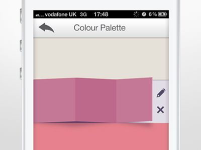 Folding colour palette selection