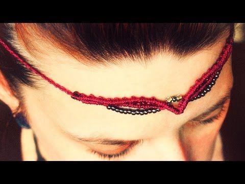 simple tiara - micro macrame tutorial - YouTube