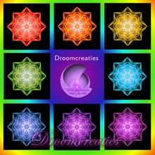 Wishcard set fractal Stardust set of 8 cards with by Droomcreaties, €18.00