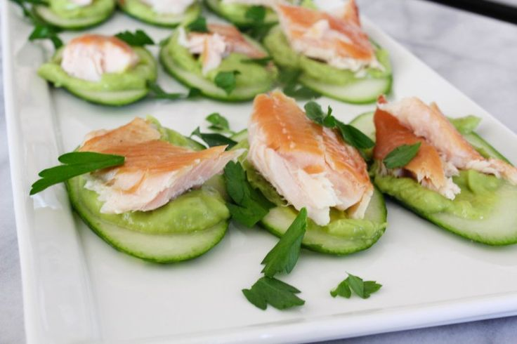 smoked trout and cucumber bites with avocado mousse | The Amused Bouche