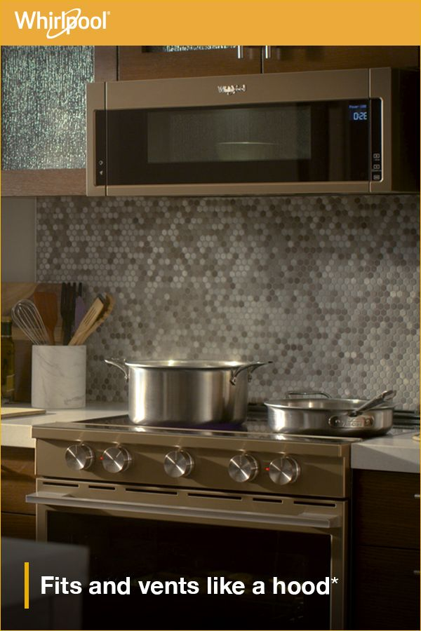 Learn About The New Whirlpool Low Profile Microwave Hood Based On 24 Minimum Install For Undercabinet Hoods A Kitchen Plans Kitchen Remodel Kitchen Makeover