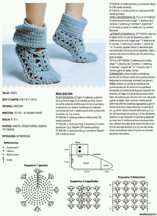 Mejores 47 imágenes de crochet medias en Pinterest | Ganchillo ...