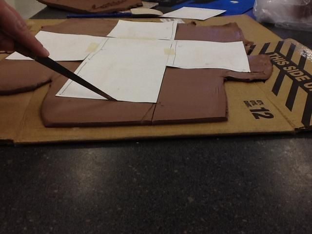 Carefully cut around your template. Be as accurate as possible so that your box fits together easily.