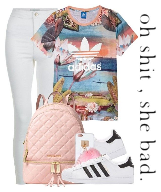 """Dope Swag 2016"" by bxby-girl-rielle ❤ liked on Polyvore featuring New Look, adidas, adidas Originals, MICHAEL Michael Kors and Ashlyn'd"