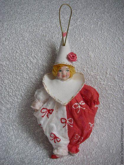 Коллекционные куклы ручной работы. Ярмарка Мастеров - ручная работа. Купить Карнавал. Handmade. Ватная игрушка, новогодний подарок