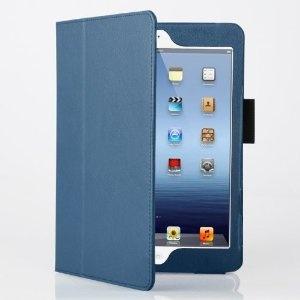 Amazon.co.jp: [Present-web] 高級感!! iPad mini 専用 スタンド機能付 レザーケース (全11色) 液晶保護フィルム付 ◇for the iPad mini 【iPad ミニ 新しいiPad】 (ネイビー): パソコン・周辺機器