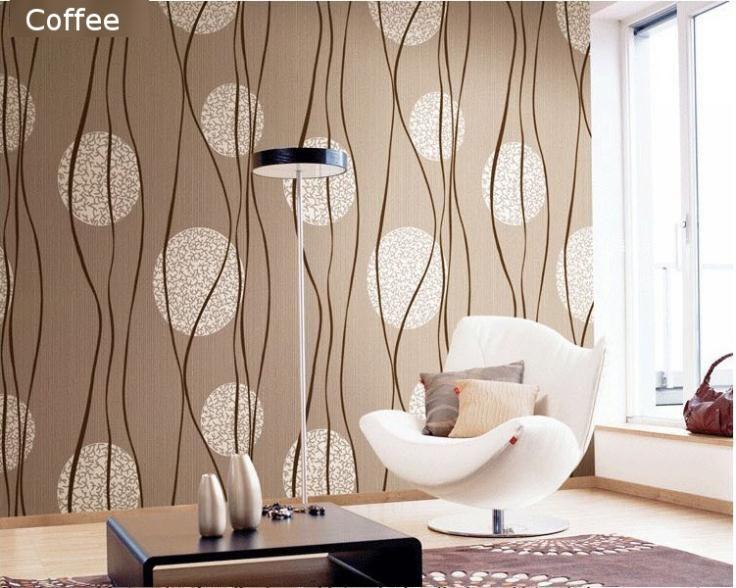 círculo de la curva de la raya en relieve metálico papel pintado moderno comedor de pvc fondos de escritorio de la pared de fo...