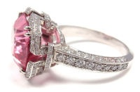 1STDIBS.COM Jewelry & Watches - TIFFANY & COMPANY - TIFFANY & CO. Diamond Platinum Pink Spinel 'Blue Book' Ring - FORTROVE