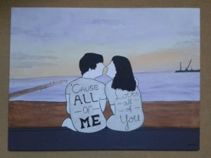 All of me. Admission for an old colleague and friend, based on a real picture, but with an artistic touch. 80 x 60 cm canvas.