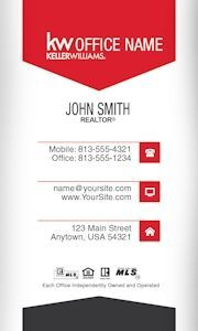 83 best keller williams business cards images on pinterest simple vertical keller williams business card template design pronofoot35fo Gallery