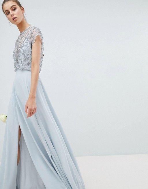 6793bbddf7c9 ASOS Tall | ASOS DESIGN Tall Bridesmaid delicate beaded bodice maxi dress