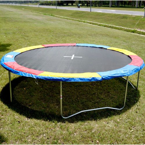 Trampoline Safety Pad Replacement 14FT Multi Colour Spring Cover Frame Jumping  #Goplus